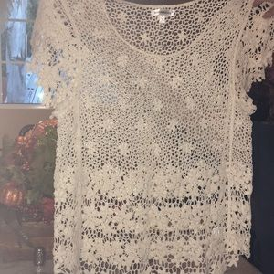 Lace knitted shirt